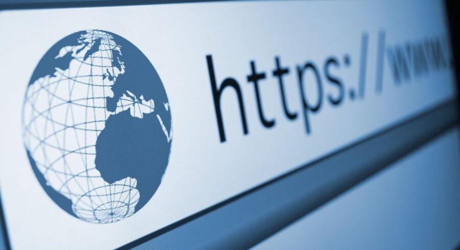 Står der https:// i adresselinien, er forbindelsen mellem ens egen computer og netstedet sikret, f.eks. til netbanken eller til Googles mange nettjenester. Foto: Iris/Scanpix