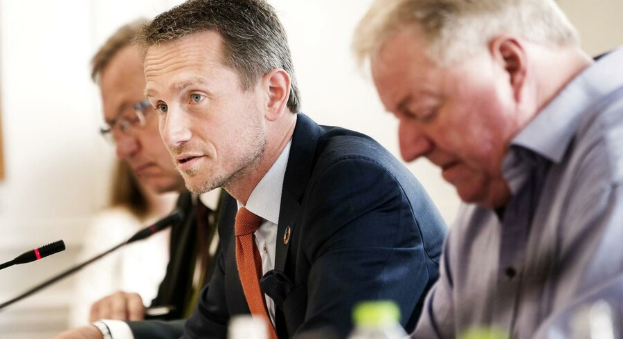 Udenrigsminister Kristian Jensen (V) er i dag d. 11. maj 2016 kaldt i åbent samråd om Udenrigsministeriets organisation Invest in Denmark's involvering i etableringen af kørselstjenesten Uber i Danmark. (Foto: Jens Astrup/Scanpix 2016)