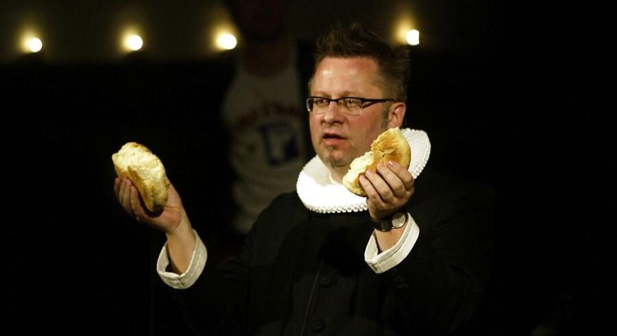 Arkivfoto: Præsten Per Ramsdal taler ved en såkaldt rockgudstjeneste i Brorsons Kirken på Nørrebro.