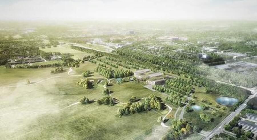 Novozymes vil opføre et stort forskningscenter ved Lyngby, 13 kilometer nord for København.