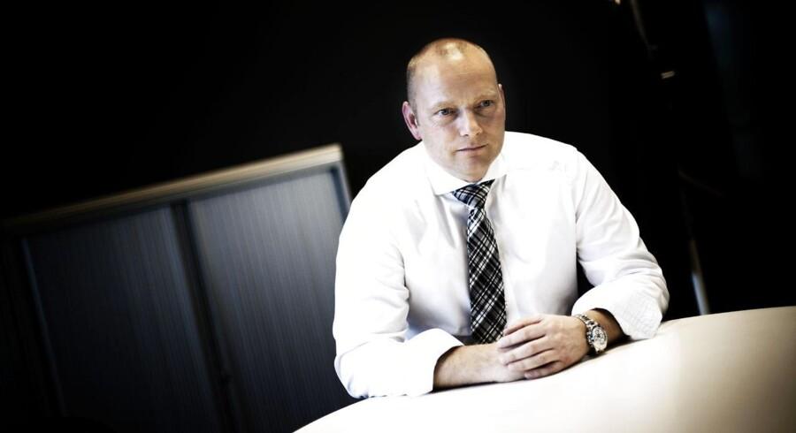 Telias administrerende direktør i Danmark, Søren Abildgaard, glæder sig over at have det højeste antal faste mobilkunder til dato. Arkivfoto: Jeppe Bjørn Vejlø