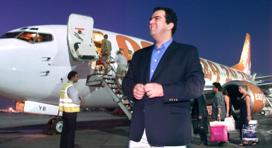 Stelios Haji-Ioannou grundlagde i 1996 luftfartsselskabet easyJet, og efter at han slap tøjlerne i selskabet, har han forsøgt sig med »easy«-tanken inden for adskillige områder. Foruden at være en meget kritisk hovedaktionær i easyJet. Foto: Scanpix