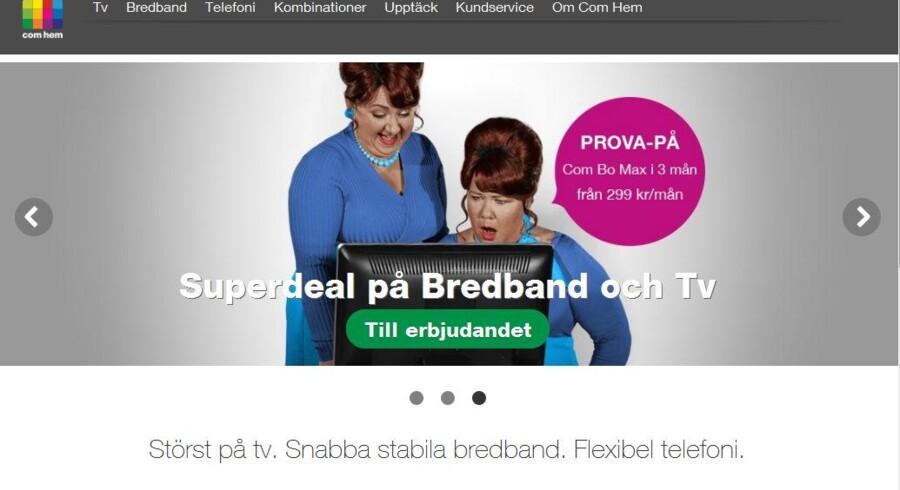 Sveriges største kabel-TV-selskab, Com Hem, børsnoteres tirsdag og håber at ligge lunt hos investorerne.