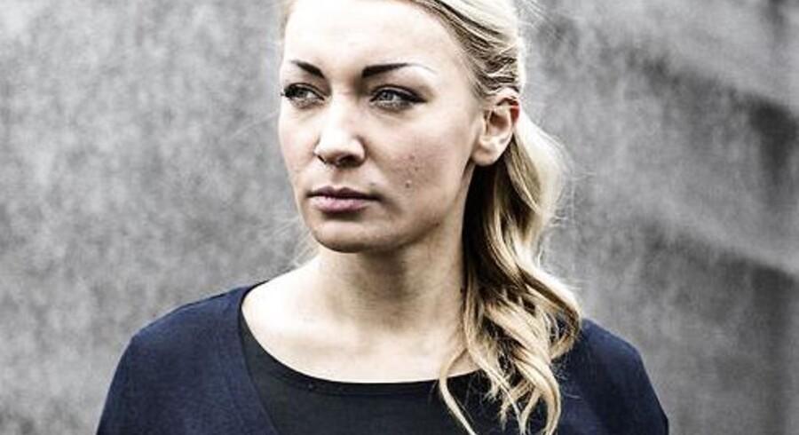 Den ukrainske politiske aktivist Inna Shevchenko fotograferet i nyhavn i København lørdag, inden arrangementet på Krudttønden.