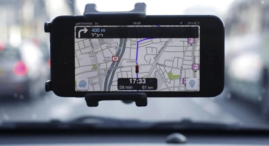 Det israelske navigationssystem Waze er blevet købt af Google for et milliardbeløb. Foto: Nir Elias, Reuters/Scanpix
