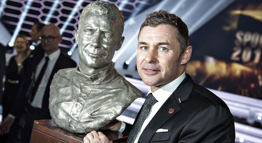 Motorsportskøreren Tom Kristensen blev optaget i sportens Hall of Fame ved DRs Sport 2017 i Boxen i Herning, lørdag d. 6. januar 2018. (Foto: Henning Bagger/Scanpix 2018)