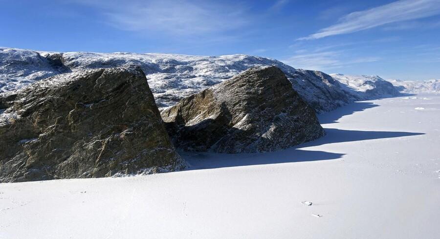 En væsentlig årsag til fremtidige havvandstigninger skyldes afsmeltning fra gletsjere og indlandsisen på Grønland. Foto: NASA