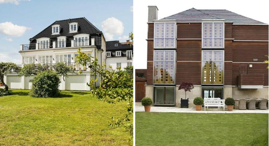 Disse to villaer i Hellerup er årets dyreste. Foto: Kristian Lützau / Ivan Eltoft Nielsen