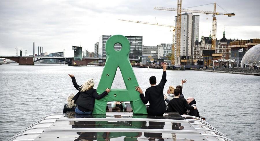 Arkivfoto: Medlemmer af Alternativet på Havnerundfart i forbindelse med folketingsvalget 2015.