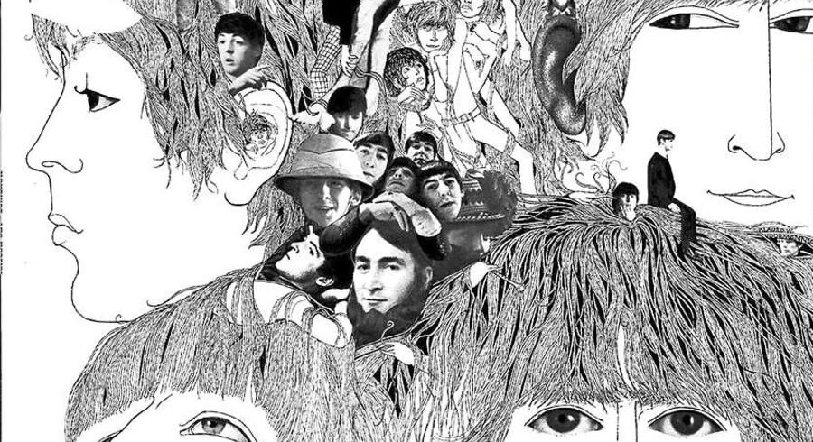 """""""Revolver"""" var blandt seks Beatles-pladeforsider, som udkom på frimærker i Storbritannien i 2007."""
