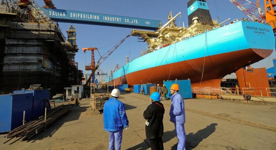 Statoil har aflyst kontrakten for jack-up riggen Mærsk Gallant, oplyser Maersk Drilling i en pressemeddelelse. AFP PHOTO/TEH ENG KOON