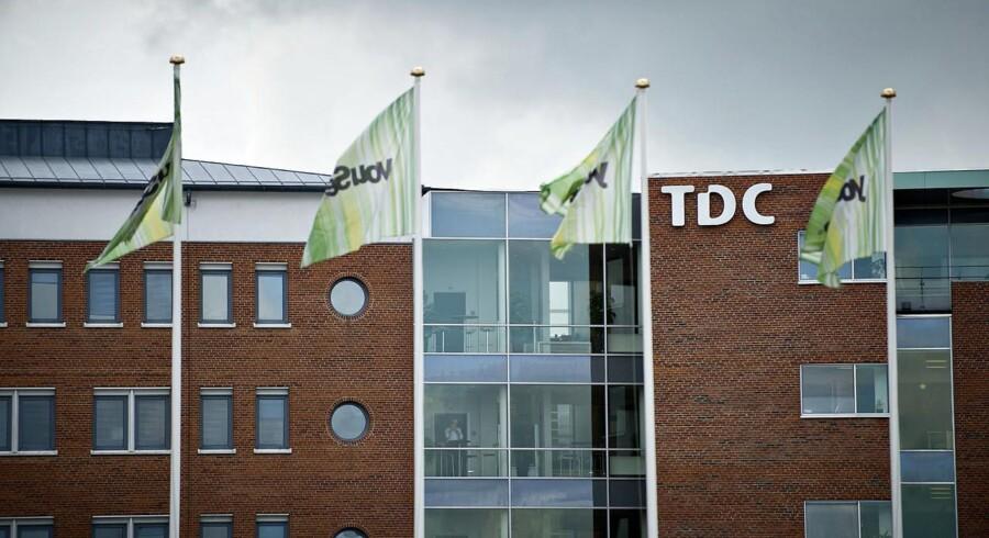Trods presset er TDC fortsat Danmarks største inden for mobiltelefoni, fastnettelefoni, TV og internetforbindelser. Arkivfoto: Torkil Adsersen, Scanpix