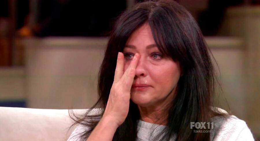 Shannen Doherty brød sammen på tv, da hun fortalte om sin brystkræft.