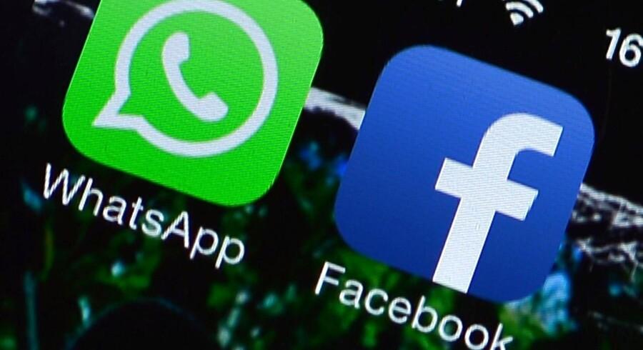 Facebook får grønt lys af EU til at overtage WhatsApp. Foto: Gabriel Bouys, AFP/Scanpix