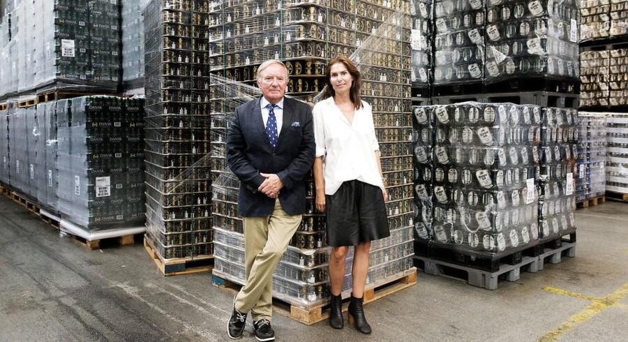Harboe Bryggeri i Skælskør. Adm. direktør Bernhard Griese og datteren Karina Harboe Laursen. Arkivfoto.