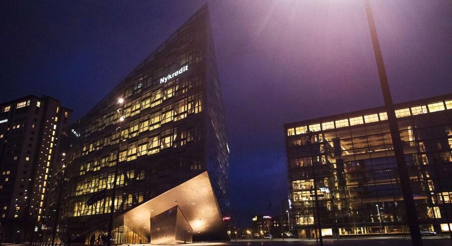 Nykredit-koncernens ejendomme på Kalvebod Brygge i København. Nykredits datterselskab, Totalkredit, forventer at miste en stor del af deres udlån til konkurrenterne, efter koncernen har meldt ud om stigende priser.