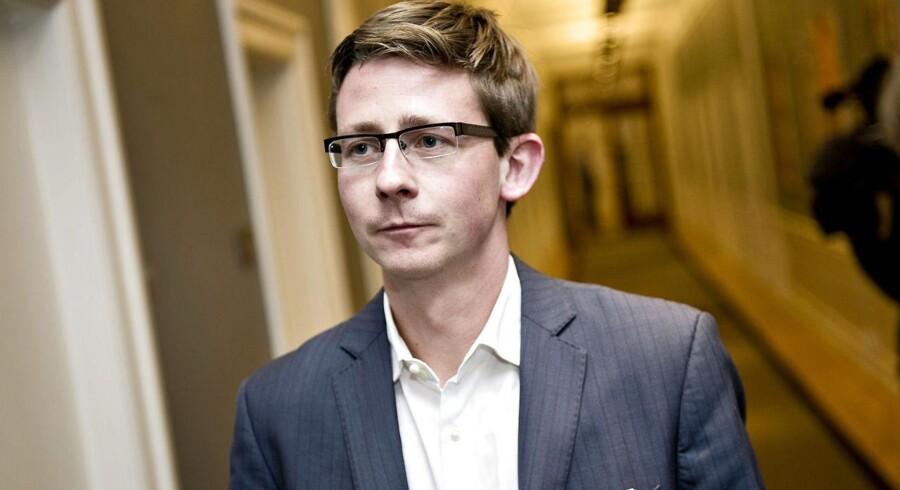 Skatteminister Karsten Lauritzen på Christiansborg.