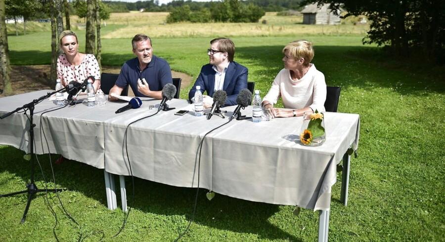 Liberal Alliance holder pressemøde mandag d. 17 august 2015 i Slagelse i forbindelse med partiets sommergruppemøde.