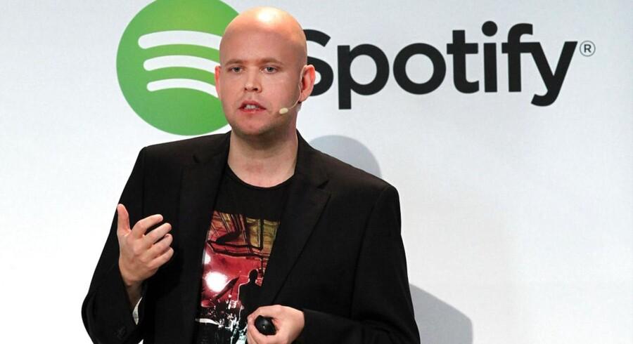 Spotifys stifter og direktør, svenske Daniel Ek, vil købe et amerikansk selskab for at forbedre musiktjenesten. Arkivfoto: Spencer Platt, Getty/AFP/Scanpix