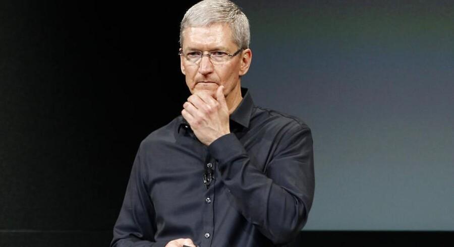 Apples topchef, Tim Cook, er blandt dem, der tirsdag mødes med præsident Barack Obama for at drøfte den omfattende overvågning. Arkivfoto: Stephen Lam, Reuters/Scanpix