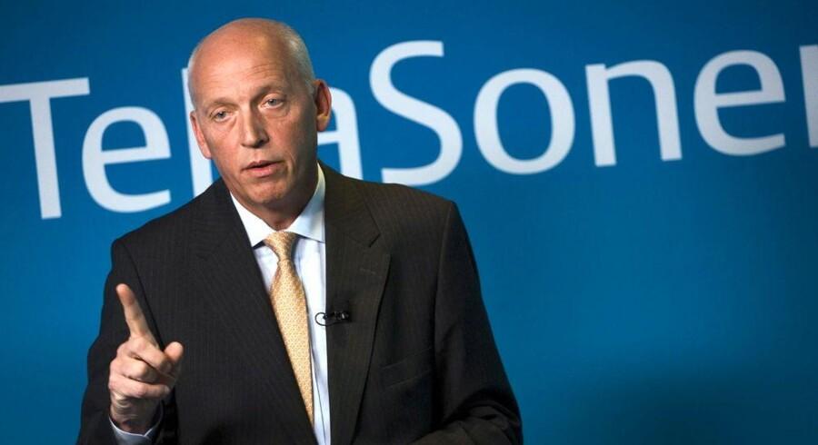 Telias koncernchef, Lars Nyberg, mener ikke, at telekoncernen har foretaget sig noget ulovligt og været involveret i bestikkelse for at få lov til at være mobiludbyder i Usbekistan. Men undersøgelserne af sagen griber om sig. Arkivfoto: Scanpix