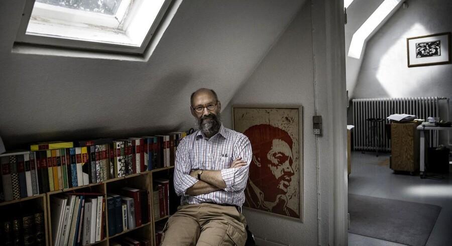 Søren Møller Christensen fra forlaget Vandkunsten er initiativtager til københavns nye litteraturhus.