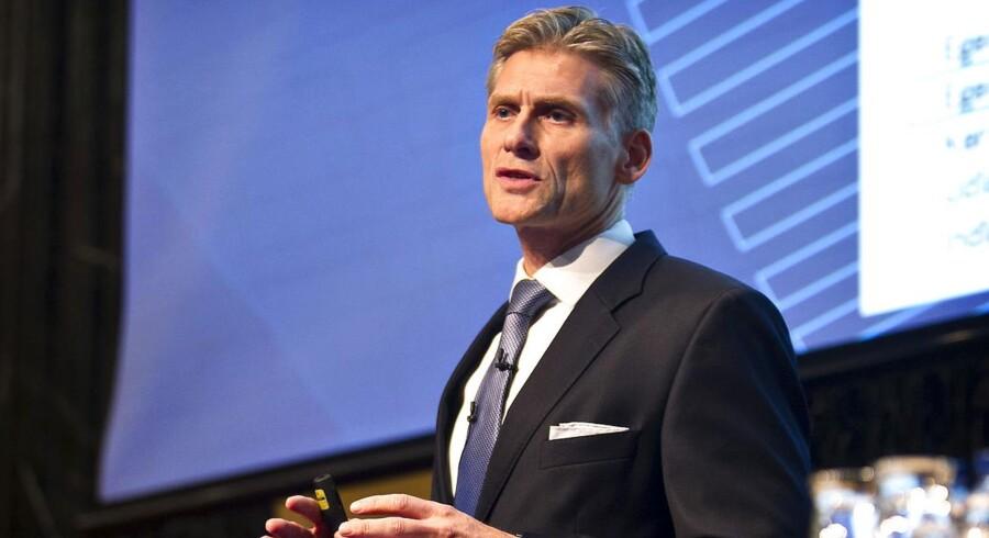 Da Danske Bank i sidste uge fremlagde årsregnskab, sagde topchef, Thomas Borgen, at de ville følge rentesatserne tæt. (Foto: Nils Meilvang/Scanpix 2015)