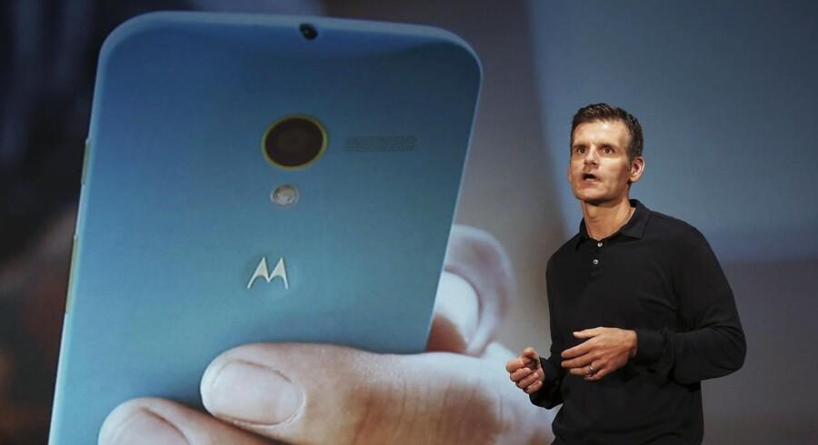Motorolas topchef, Dennis Woodside, forlader selskabet, som under Google-ejerskab har leveret to nye Android-telefoner, som har fået megen ros. Arkivfoto: Nacho Doce, Reuters/Scanpix