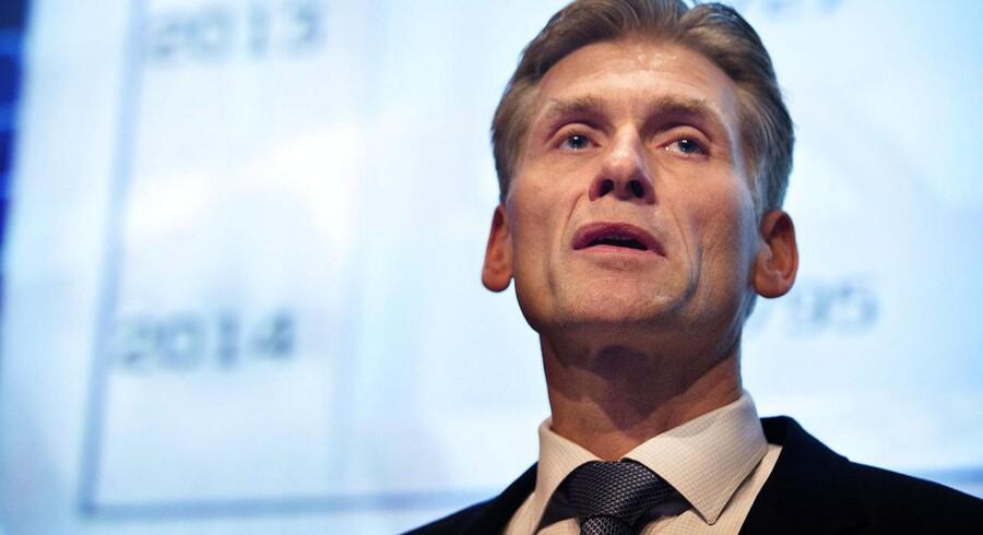 Topchef Thomas Borgen præsenterer Danske Banks årsregnskab og vejen hen til det finansielle mål om en egenkapitalforrentning på 12,5 procent senest i 2018.