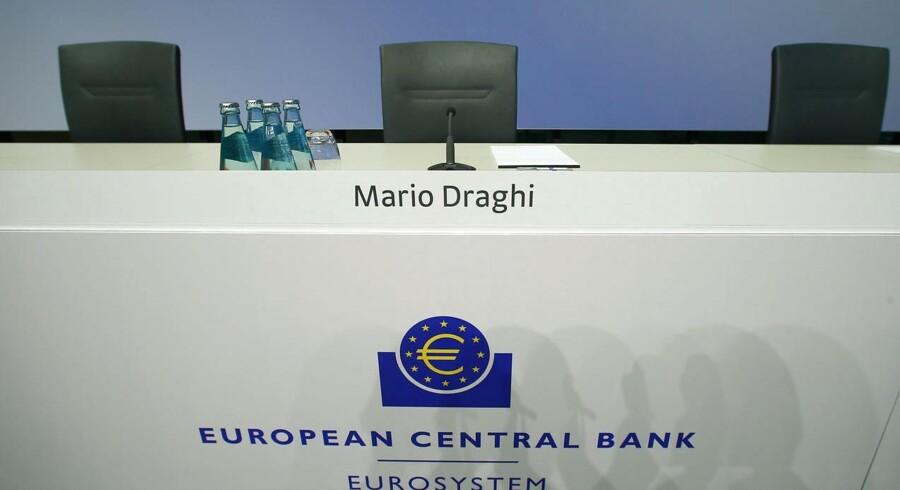 Ingen ændringer fra Den Europæiske Centralbank i denne omgang. Ledende rente fastholdes på -0,40 procent.