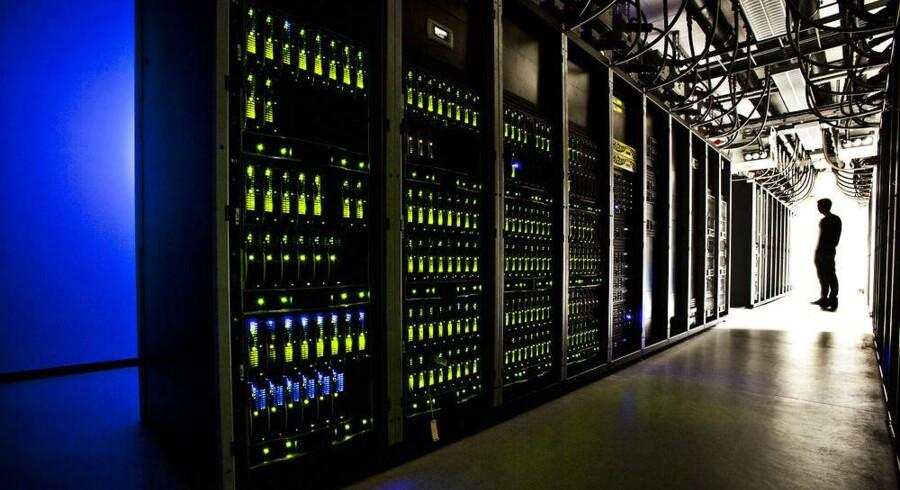 TDCs IT-aftale med indiske Tata udløser nu fyringer. Her et glimt fra TDCs datacenter i Valby. Arkivfoto: Dennis Lehmann, Scanpix