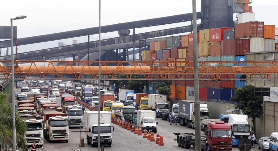 Den samlede danske eksport til Brasilien, Rusland, Indien og Kina er stagneret, og store danske koncerner oplever svigtende salg.