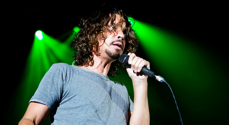Arkivfoto: Chris Cornell ved et tidligere danmarksbesøg i front for Soundgardens ved en koncert i Forum i 2013.