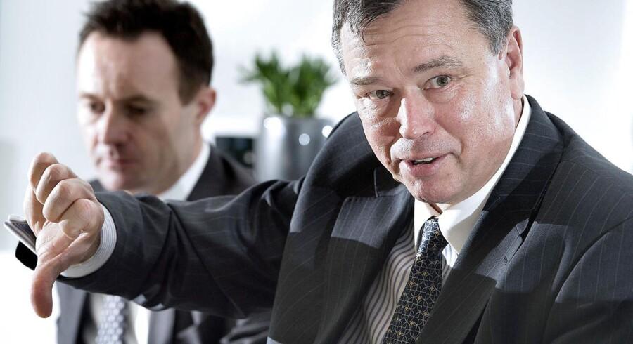 Novozymes administrerende direktør Peder Holk Nielsen og økonomidirektør Benny D. Loft