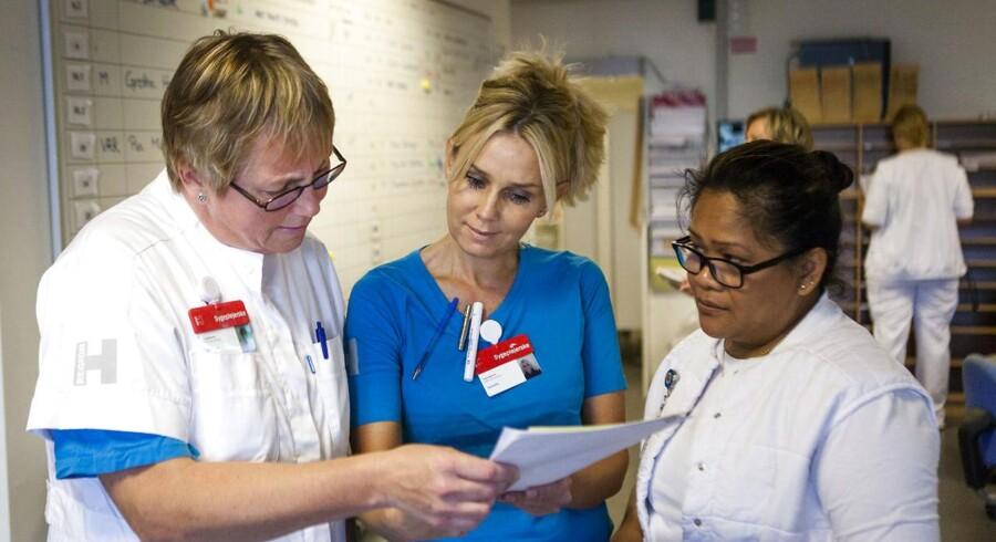 Det er blandt andet sygeplejersker, der nu tilhører en faggruppe med fuld beskæftigelse.