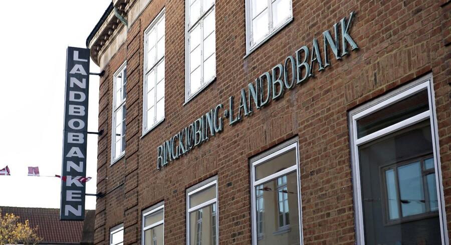ARKIVFOTO Ringkjøbing Landbobank. exteriør Torvet 1 - Ringkøbing