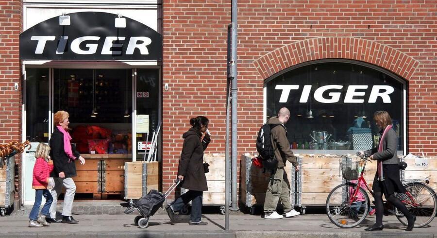 Tiger-forretningerne er blevet en stor succes i Storbritannien. Her ses dog en butik på Frederiksberg.