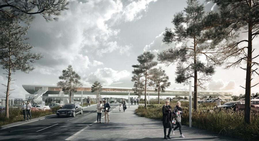 Sløret for den nye Køge Nord Station, på den kommende højhastighedsbane mellem København og Ringsted, er blevet løftet. Vinder designet er tegnet af COBE og Dissing + Weitling i samarbejde med ingeniørhuset Cowi. For at sammenbinde S-toget og højhastighedsbanen, får stationen en 225 meter lang kombineret gangbro og ventesal, der krydser den nærliggende motorvej. Stationen forventes færdigbygget i 2018.