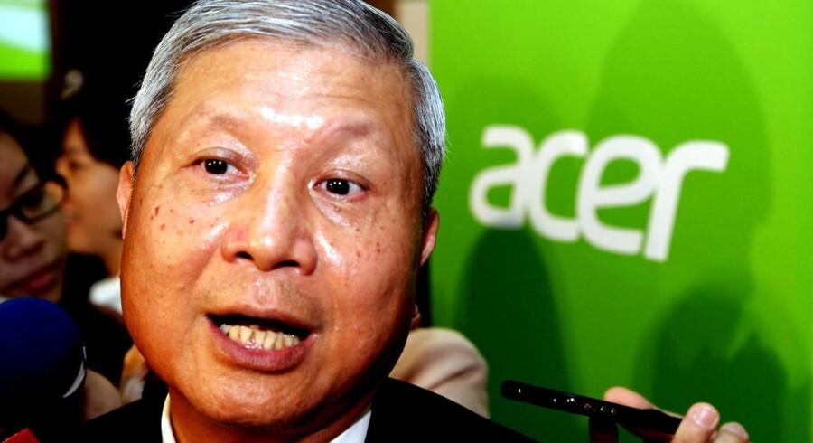 Den taiwanske PC-gigant Acer siger farvel til topchef J.T. Wang. Arkivfoto: David Chang, EPA/Scanpix