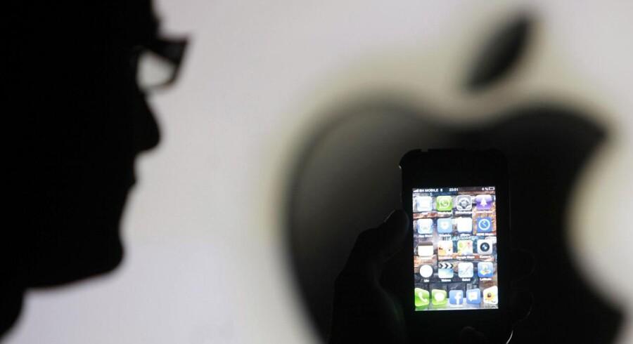 Der vil være større fokus end ellers på Apples regnskab, som kommer tirsdag aften, dansk tid. Arkivfoto: Dado Ruvic, Reuters/Scanpix