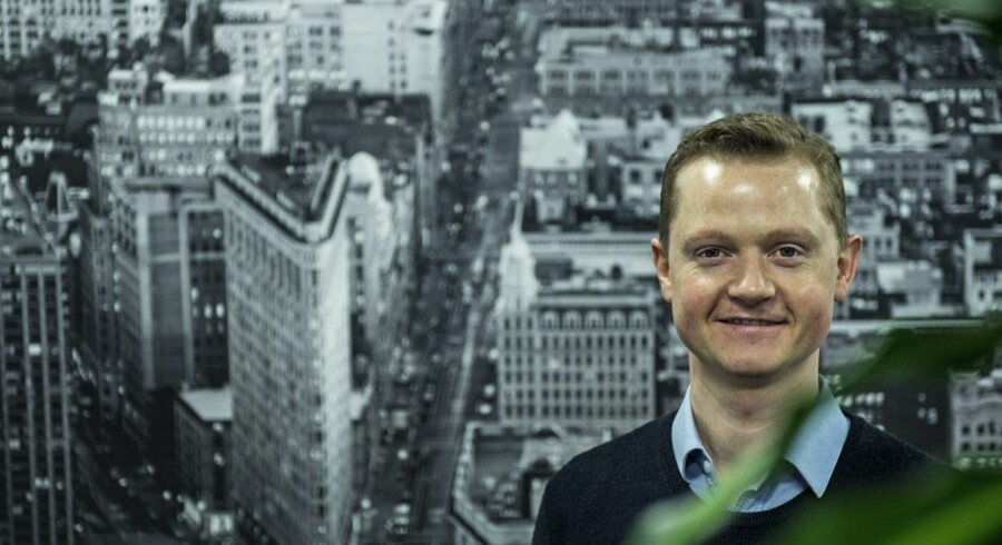 Trustpilots stifter og topchef Peter Mühlmann vil blive glad. hvis en ud af ti tilfældige amerikanere om et år har kendskab til Trustpilot. Foto: Christian Liliendahl