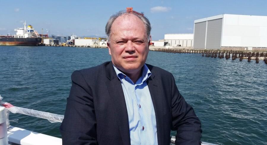 Kjeld Dittmann havde torsdag tid til en sejltur på Bosporusstrædet, inden han fredag vælges som ny formand for den europæiske maritime brancheorganisation SEA Europe. Foto: Privat