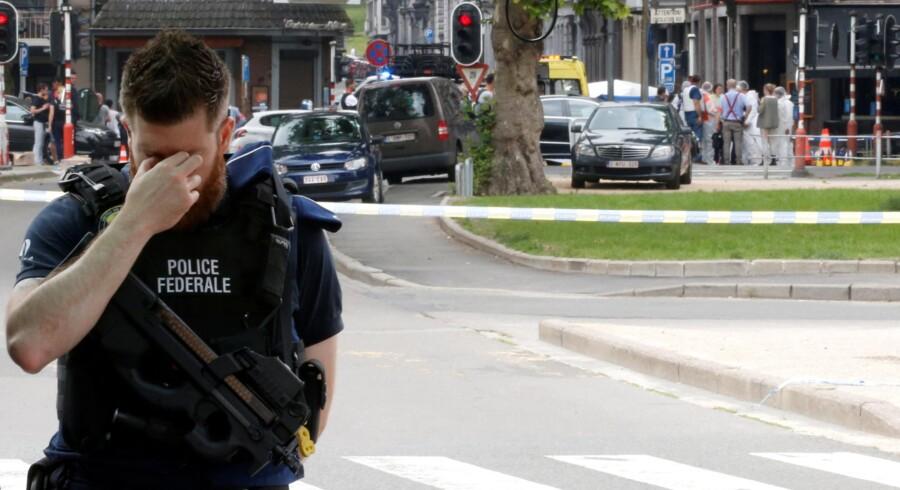 Angrebsmanden, der tirsdag dræbte tre i den belgiske industriby Liège, skal angiveligt have dræbt yderligere en person mandag. Francois Lenoir/Reuters