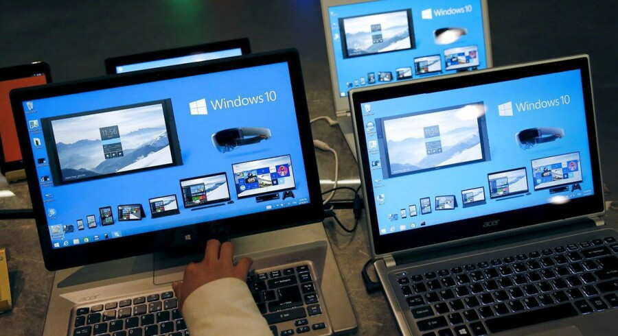 Windows 10 kommer til sommer og bliver ens på PCer, tavle-PCer og smartphonetelefoner. Arkivfoto: Kim Kyung-Hoon, Reuters/Scanpix