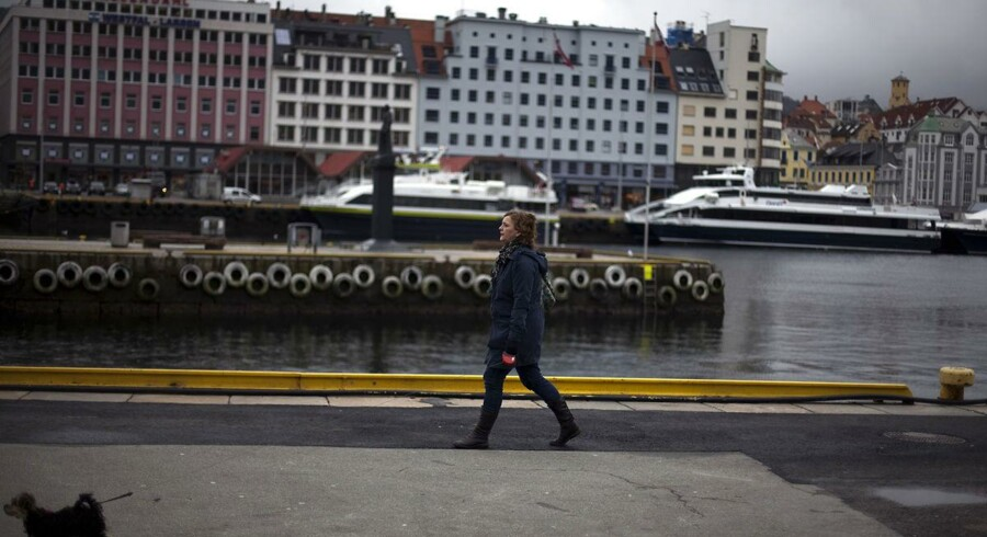 Arkivfoto. Havnefronten i Bergen.