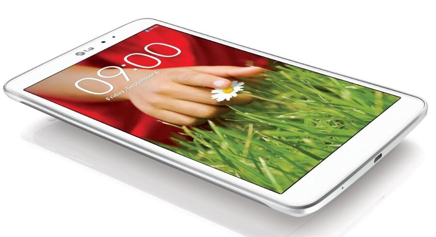 LGs nye alumiums-tavle-PC kan ifølge medier matche byggekvaliteten på Apples iPad Mini. Foto: LG Pressefoto
