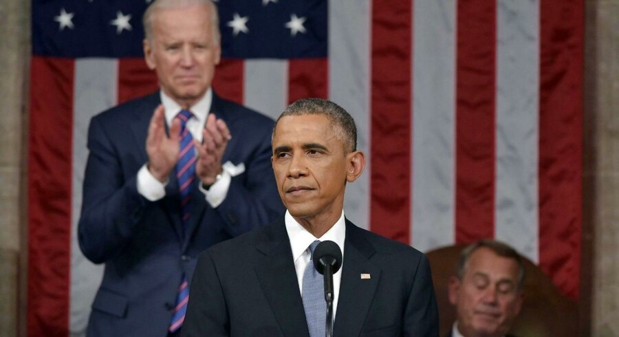 »Lesbisk«, »biseksuel« og »transseksuel«. Disse tre ord brugte Obama i sin State of the Union-tale i nat. Det har ingen præisdent gjort før. Foto: Mandel Ngan/AFP