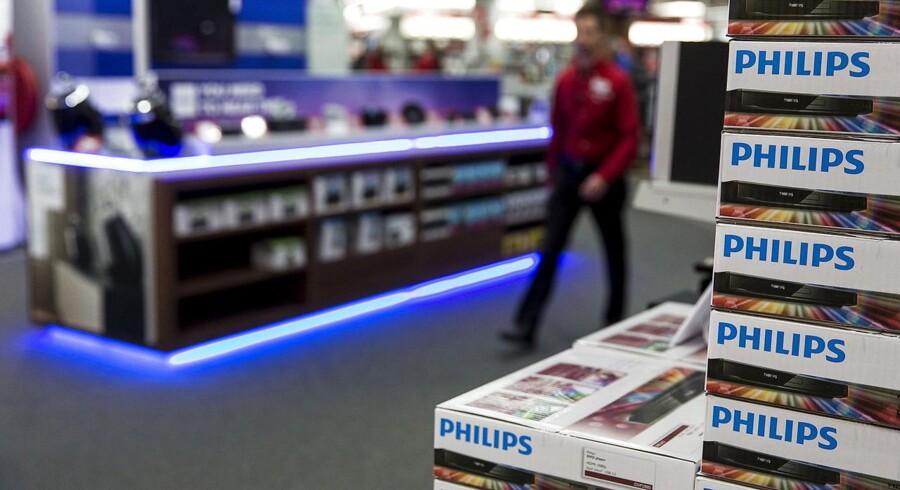 Den hollandske gigant Philips overraskede positivt i forhold til analytikernes forventninger.