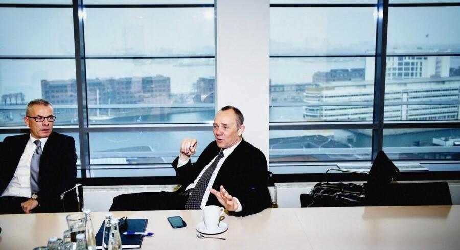Stifter af EET Group John Thomas, der her ses sammen med finansdirektør Jan H. Iversen, anser det slet ikke umuligt, at virksomheden omsætter for fem mia. kr. om fem-seks år. Foto: Thomas Nielsen