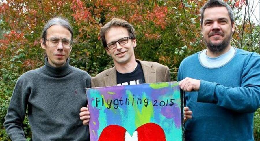 Dan Park (tv) med sin støttekomite Ibi-Pippi Orup Hedegaard (midt) og Uwe Max Jensen.